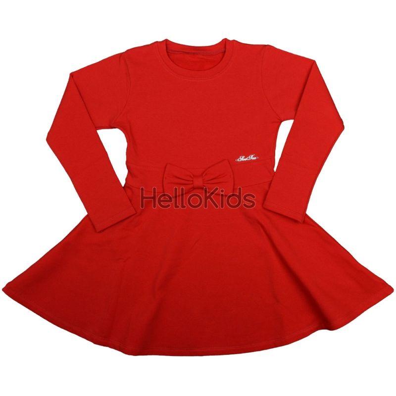 a7ce5a55edc Червена детска рокля Панделка