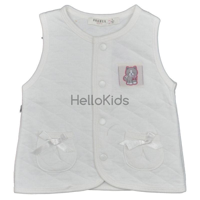 537f097a980 Бебешки елек с джобчета в екрю