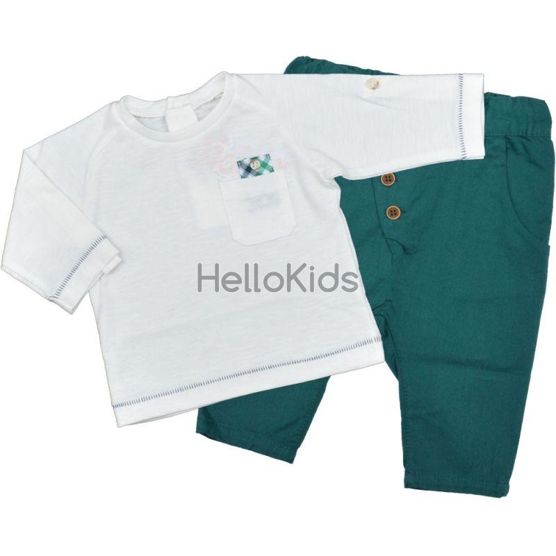 fe0c745d0bc Спортно елегантен бебешки комплект с панталон в зелено