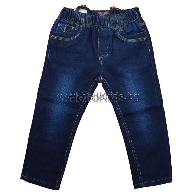 e8dd72c7608 Ватирани детски дънки с тиранти