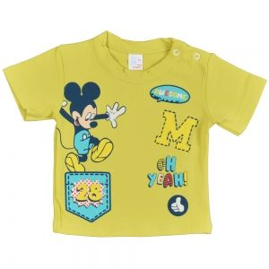 Памучна бебешка тениска Awesome Mickey